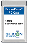 SILICON SYSTEMS SSD-P51MI-3500 PCMCIA ATA Flash Memory PC Card PC Card 512MB Industrial